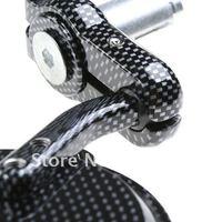 Боковые зеркала и Аксессуары для мотоцикла Brand New 2 Round Motorbike Rear View Mirrors - Black Grey Checkerboard Design