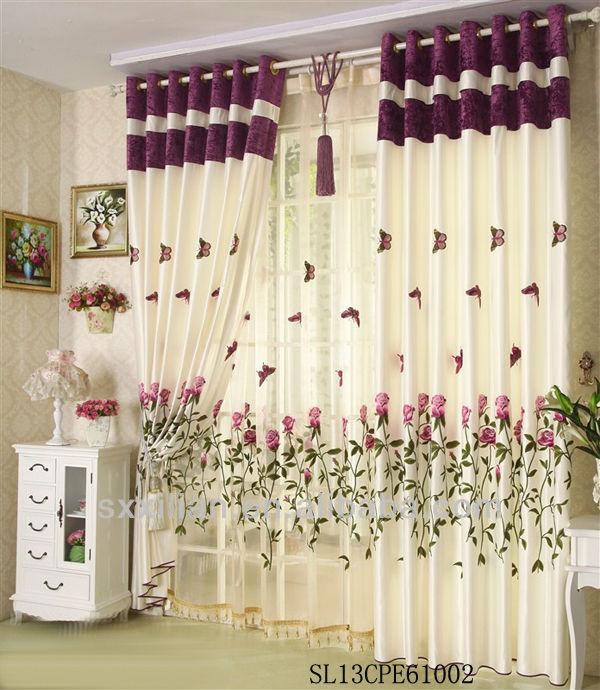 blackout moderne broderie rideau avec voile fen 234 tre salon rideau tissu rideaux id de produit