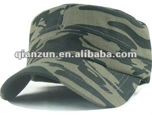 2012 fashion camouflage flat top military cap