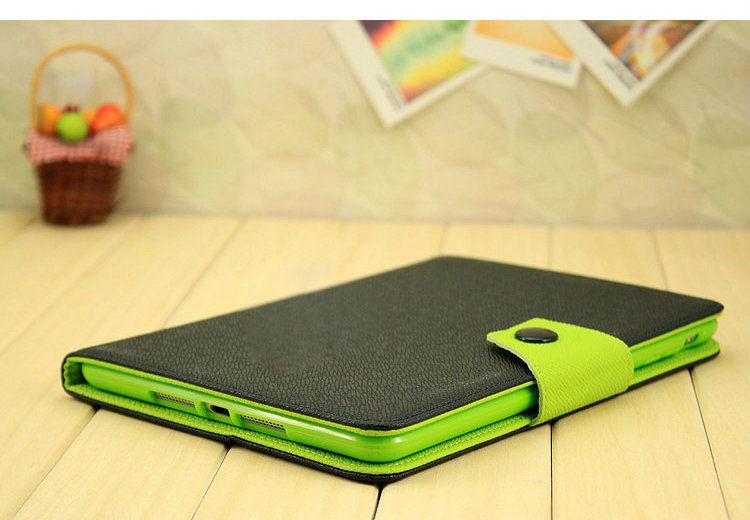ultra thin leather smart case for ipad mini