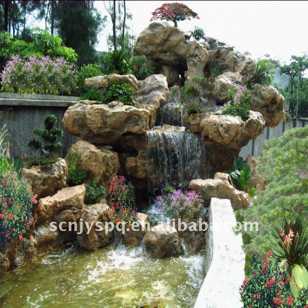 Fuentes y cascadas para jardin imagui for Cascadas para jardin piedra