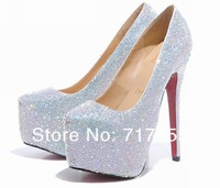 Туфли на высоком каблуке new arrive hot sell 11cm&14cm women's wedding shoes crystal shoes women high heels rhinestone high heel shoes platform pumps