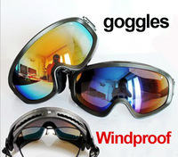 Free Shipping Super Ski /Riding Goggles Snowboard Goggles//Skiing Glasses UV Protection Two Color Outdoor Sports