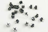 200pcs/много 6x6x5mm 4 ноги кнопка переключения ЖК дисплей Кнопка ремонт электронных деталей и компонентов