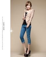 Женский костюм NEW autumn -summer Womens Blazer Collar Slim Casual Impreaaion nip gold buckle Suit Jacket Coat