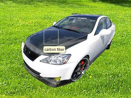 carbon fiber hood application