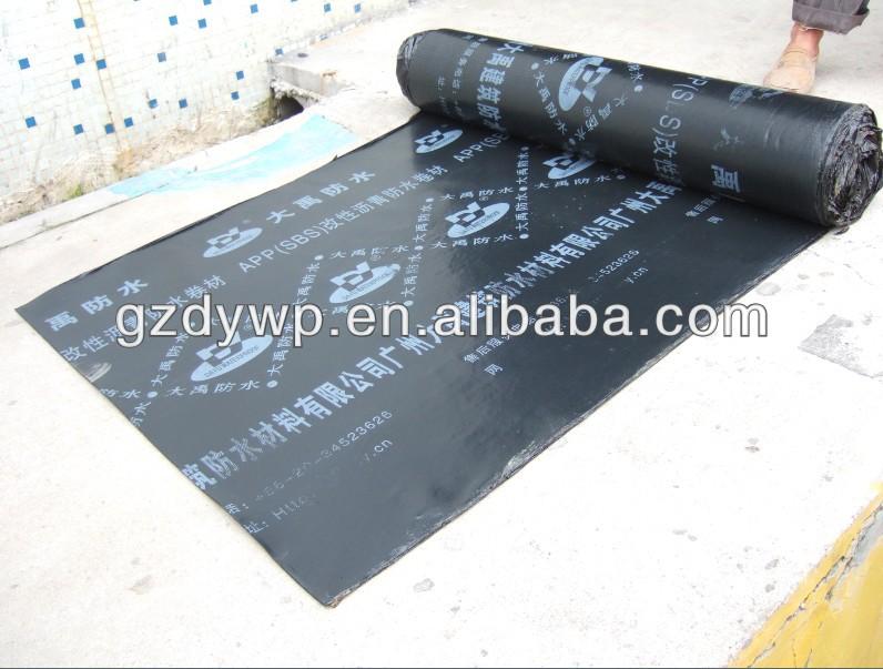 SBS asphalt waterproof roofing felt with polyester reinforcement