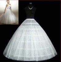 free shipping 6-HOOP 1-LAYER BRIDAL GOWN PETTICOAT SKIRT SLIP wedding dress petticoat/crinoline wholesale/retail