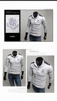 Мужская повседневная рубашка spring new shirts cotton mixed colors long sleeve classic embroidered Men's Korea fashion polo shirt
