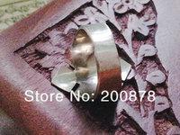 R118  Tibetan White Metal Copper Endless Knots  Amulet Ring,Nepal Vintage Turquoise Man Finger Rings