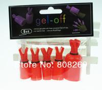 Набор для маникюра New nail product nail polish remover gel-off Nail art Soakers 5 pcs/bag