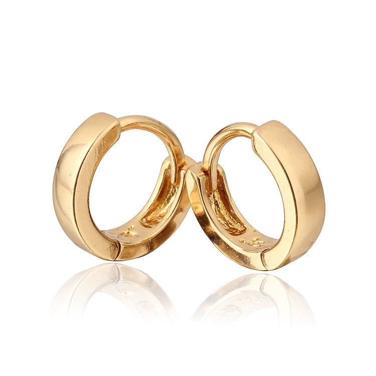 Wholesale-Baby Earring 18K Gold Plated Hoop Earrings For Kids ...