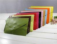 New arrival!!10pcs/lot ladies' candy color day clutches,fashion simple handbag for women,attache case,Promotion for wholesale