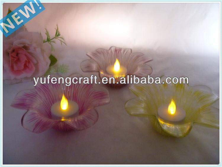Clear glass tealight candelabros linternas de material reciclado ...
