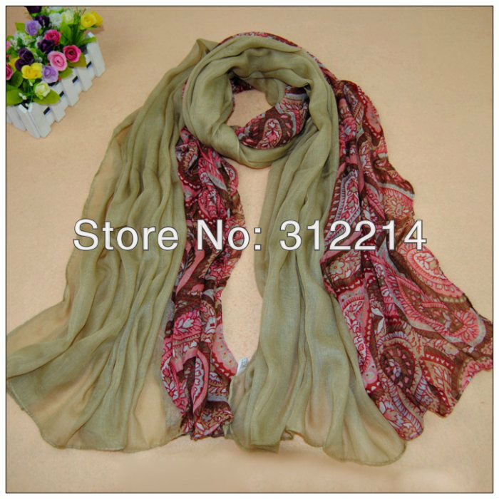 Big yards floral & pure color beauty lady scarf (10)