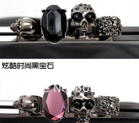 Top fashion handbag, hollywood stars favorite style women clutches bag, high quality ring bags, hot sale skull evening clutch