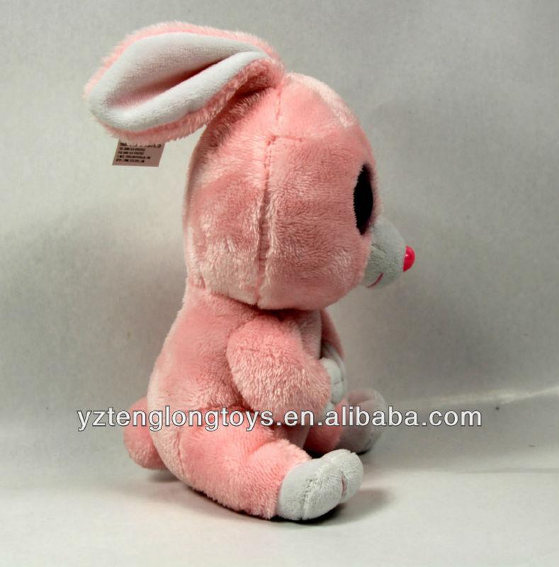 2013 attractive baby big eyes plush rabbit toys for children