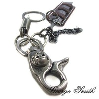 KY048/leather key chain,high quality cowhide,trendy cowhide  key chains,Casual  Style,fashion jewelry,Black Color