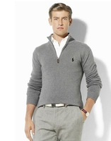 Мужской кардиган 2013 hot selling fashion long sleeve zipper thermal underwear double breasted splice casual polo men sweater brand