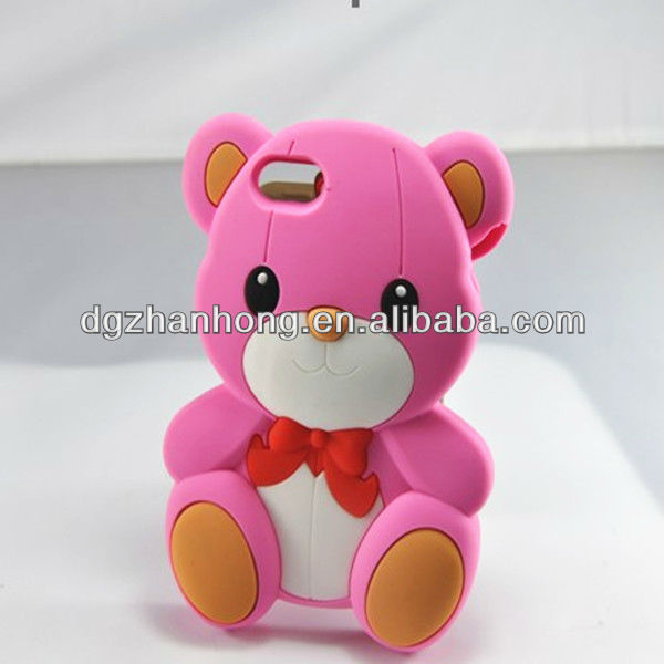 3D Cute animal xperia ray silicone case