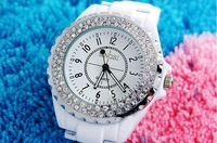 Наручные часы Lover's Fashion Crystal Ceramics Stainless steel SINOBI Wrist Quartz Dress Watch Mens Womens Ship