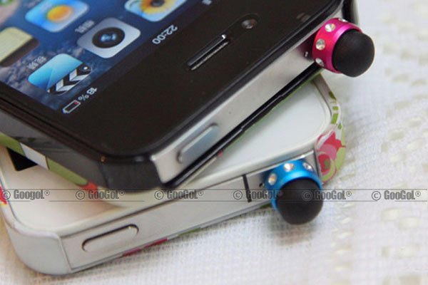 GA-PE-0008 MICRO Capacitive Headset Plug Dust Cap Stylus Touch Pen with Jewel for Apple_1.jpg