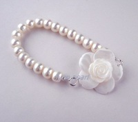 8-9mm Natural pearl bracelet, white + 925 Silver Buckle+High-grade packing box+Three kinds of wear method