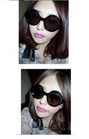 Женские солнцезащитные очки 100%UV resistance material vintage style round frame black women sunglasses SN-016