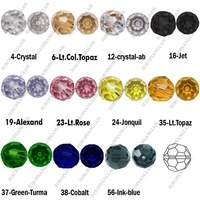 Бусины 500 pcs Round style crystal beads 5000-12mm