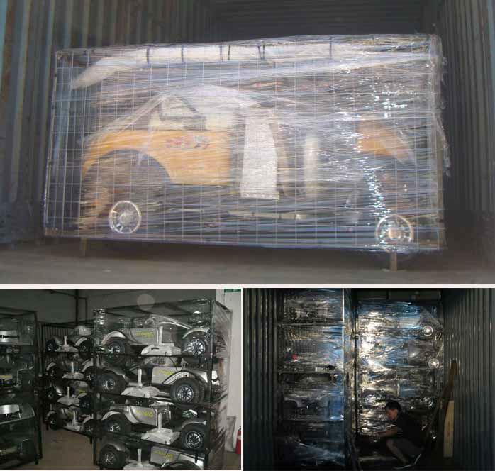 100% en usine livraison de deux voiturette de places avec presse-étoupe