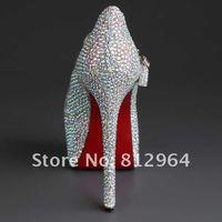 Туфли на высоком каблуке hot sale glitter rhinestone ladies' wedding high heel shoes
