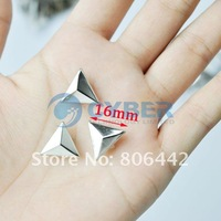 Клепки для одежды 100 Pcs DIY Sliver Triangle Clothing Accessories16mm Rivets Spike Studs Punk Bag Belt Leathercraft