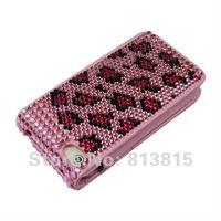Чехол для для мобильных телефонов DIY Hot Sale Pink Diamond Leather Wallet Case Bling Rhinstones Crystal Card Slot Cover Bag For iPhone 4 4G 4th 4S