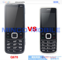 Мобильный телефон Dual SIM Dual Standby Cheap 6700 Mini Mobile Phone with Russian Keyboard