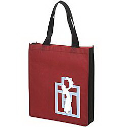 Tote Bags@@60168##PromotionalNonWovenTwoToneTote80GSMLT45033
