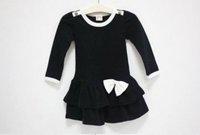 Платье для девочек 5pcs/lot cotton Baby girl dress Spring Autumn Girl's dresses BOW Cake dress, children Autumn clothes 630181J