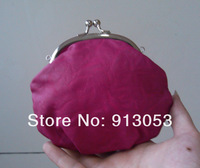 Клатч 14*5*13cm Fuchsia PU Leather Camellia Rose Flower Leather Hasp Day Clutches Bag Coin Wallet Evening 16 Colors