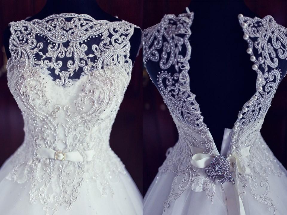 Вышивка бисером свадебных платьев схемы 31