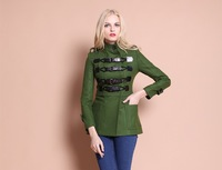 2012 Hot Stars style Solid double breasted Blazer ,women winter  jackets and coats