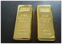 USB-флеш карта Christmas gift! Gold bullion usb drive, USB Flash Drive, USB Flash Disk