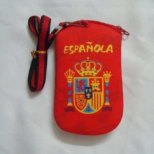 ac milan  cell phone pocket gripe lashing  /  red mobile phone bag