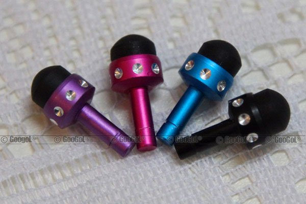 GA-PE-0008 MICRO Capacitive Headset Plug Dust Cap Stylus Touch Pen with Jewel for Apple_3.jpg