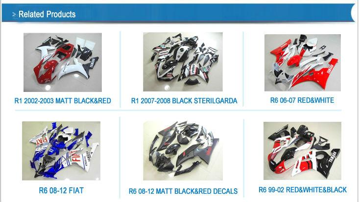 ABS fairing For YAMAHA R6 2006-2007 BLACK ORIGINAL FFKYA010