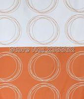Занавеска для душа Modern Decor Fashion Orange Circle Picture Bathroom Fabric Shower Curtain 180X180cm Cs165