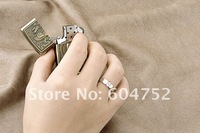Кольцо Retail for 100% Guaranteed Real 925 Sterling Silver Zircon Ring with Platinum Finish for Men