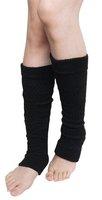 Plain Knitted Leg Warmers Stocking Socks Finger less Long Gloves Neon Color