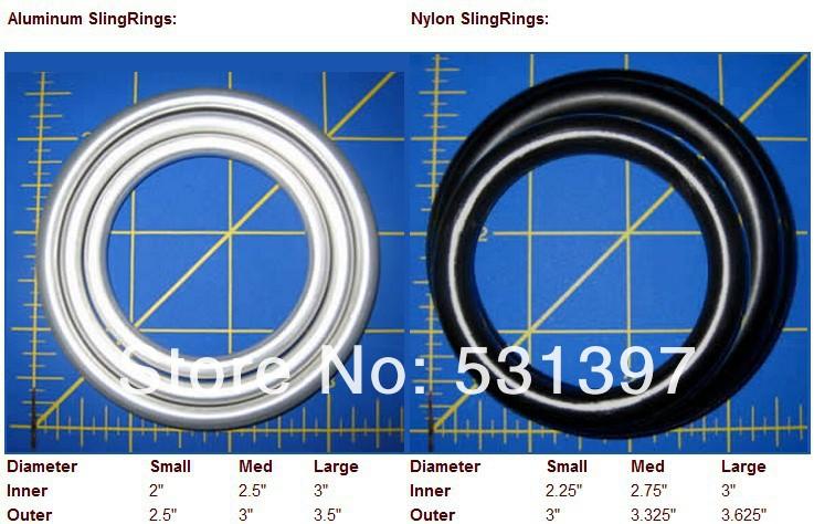 Nylon sling ring size