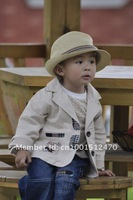 2012 new hot sales children's clothing small set cotton coat+T-shirt+pants set baby boy/kid three piece sets