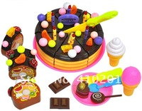 Chocolate cakes toys, fruit cake, educational toys play pretend to food