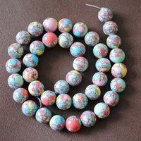 Beads, 114pcs/Lot, Imitation Turquoise Beads, Loose Gemstone Beads, Size: 10mm